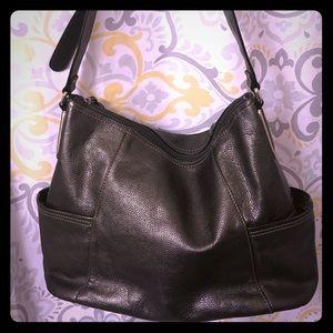 Tignanello Grey Genuine Leather Bag